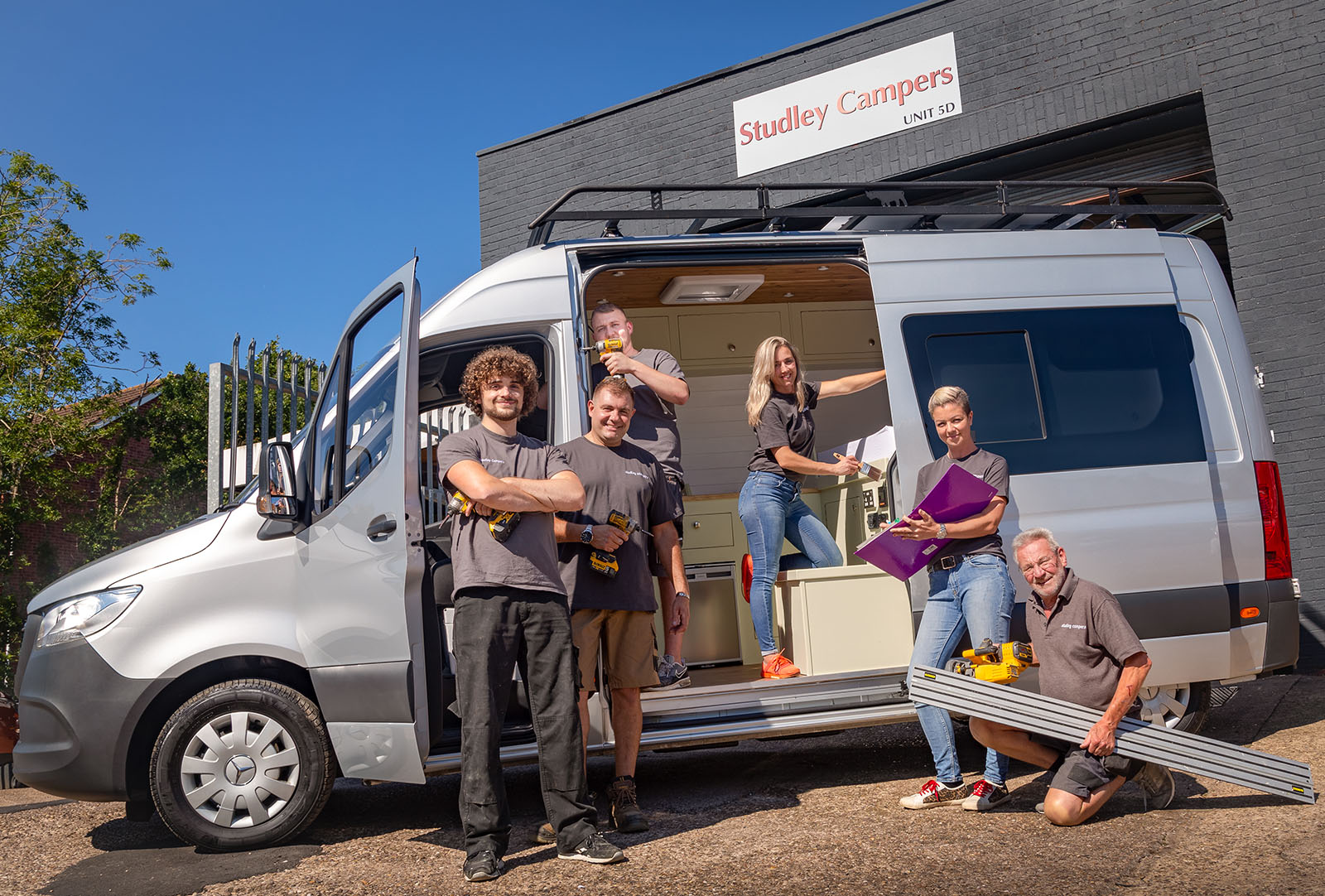 The Studley Campers team of skilled designers, craftsmen, project managers and decorators