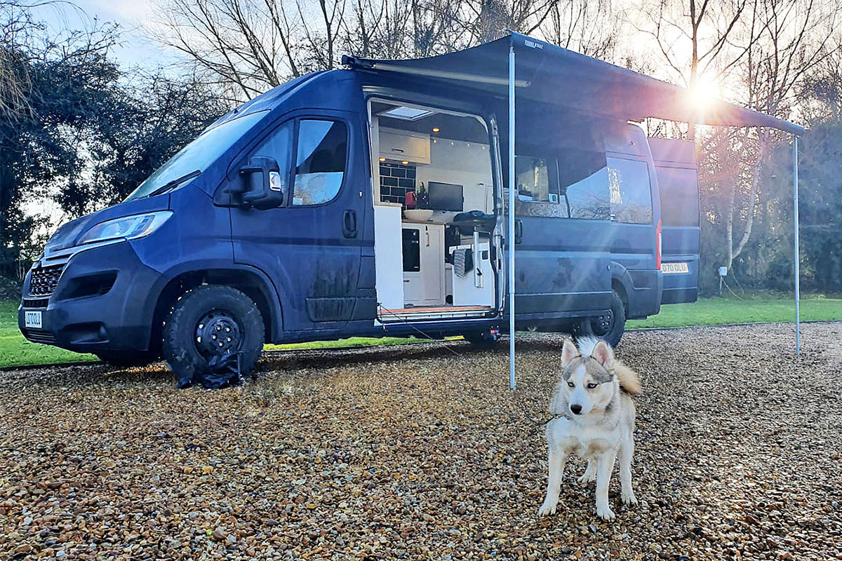 Lunar, a hand made campervan crafted by Studley Campers
